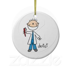 Dentist Stick Figure Ornament