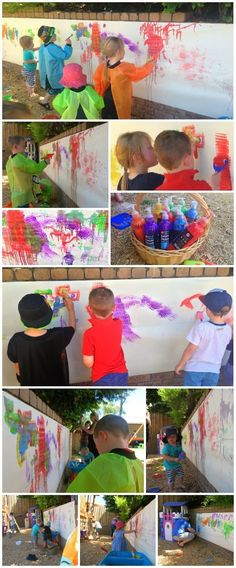Learn with Play at Home: Ideas for an Art Party! .... definitely an outdoor thang.