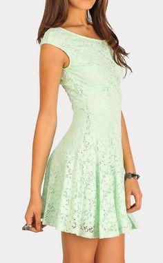 Flirty and fun?  mint lace dress