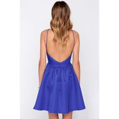Chic and Repeat Blue Backless Dress ($47) ❤ liked on Polyvore