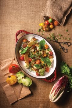 Ricotta gnocchi with oven-dried heirloom tomatoes, herbs and greens by ...