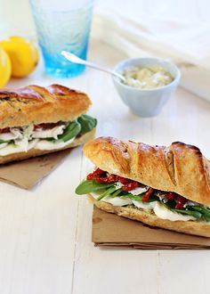 Turkey with Artichoke and Sun Dried Tomato Subs | GoodLife Eats