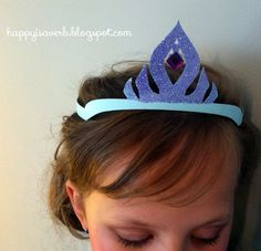 Happy is a verb: Princess crown cut with the Silhouette