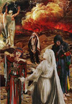 Sodom & Gomorrah by American Surrealist Artist Howard David Johnson ~ Old Testament art