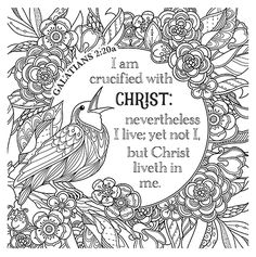 (This Bible Study is FREE FREE PRINTABLE Christian coloring sheets with Bible verses. A new coloring sheet is posted every Friday. A great stress reliever and they look so pretty framed, from Planet Coloring Pages, Jesus Coloring Pages, Bible Verse Coloring Page, Spring Coloring Pages, Free Printable Coloring Pages, Adult Coloring Pages, Coloring Books, Coloring Sheets, Bible Art