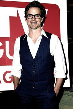 Matt Bomer in glasses is so hot...in fact...any guy in glasses is hot.