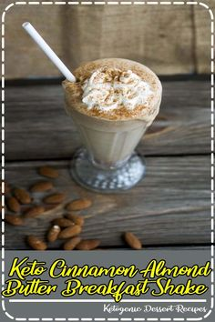 A satisfying and delicious keto breakfast shake or smoothie that is flavored with cinnamon and almond butter. An easy dairy free low carb breakfast on the go! Keto Smoothie Recipes, Healthy Crockpot Recipes, Crockpot Meals, Diet Recipes, Good Food, Yummy Food, Tasty, Ketogenic Desserts, Ketogenic Diet