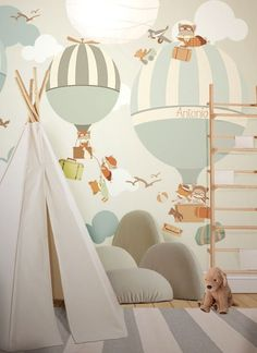 little hands wallpaper bemydeco Baby Boy Rooms, Baby Bedroom, Baby Boy Nurseries, Nursery Room, Kids Bedroom, Trendy Bedroom, Little Hands Wallpaper, Baby Wallpaper, Kids Room Wallpaper