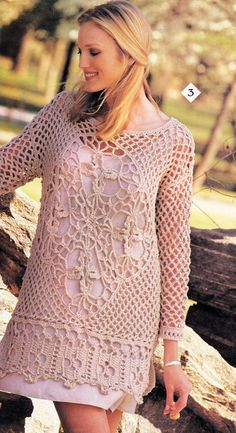 Crochet  Tunic Top Celtic Coverup Pattern, Red Heart Pattern- Digital Download- Petite, Small, Medium & Large