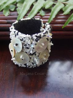 Fragments III, wearable art cuff