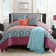 image of Boho Chic Comforter Set in Orange