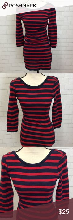 """Express Wool Blend  Jersey Crew Neck Shirt Dress Casual Express crew neck jersey shirt dress. Very cute for everyday use. 60% Cotton 40% wool. Shoulders 15""""  sleeve 3/4 length. Top to bottom hem 32"""" Express Dresses Midi"""
