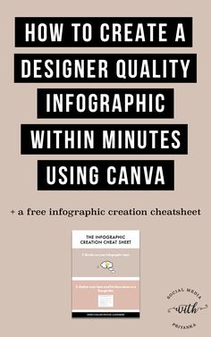 VIDEO] How to create designer quality infographics within minutes using Canva. The DIY step by step guide. // Social Media with Priyanka // Bespoke Online Marketing Solutions and Consulting for Small Businesses and Solopreneurs