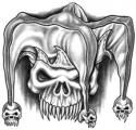 The Best Tattoo Supply Shop Skull Tattoo Design, Skull Design, Skull Tattoos, Body Art Tattoos, Tattoo Designs, Evil Clown Tattoos, Jester Tattoo, Evil Jester, Bullseye Tattoo