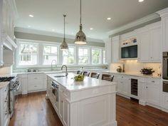 Painting Kitchen Cabinets Antique White: HGTV Pictures, Ideas   Kitchen Ideas & Design with Cabinets, Islands, Backsplashes   HGTV