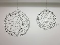 Two Custom Hanging Sphere baskets Reserved For gt1620