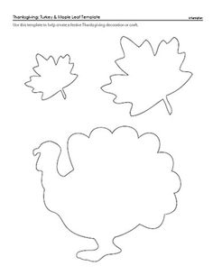 Turkey & Maple Leaf Pattern for Thanksgiving - could use this outline for our calendar