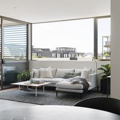 Our Lennon sofa showrn here in the inner-west apartment styled by sarah ellison  #modernfurniture #greysofa #modularsofa #interiordesign #cityliving #interiordesignideas #livingroomdecor #livingroomfurniture #lounge #sofa #sofaideas #moderndesign #minimalinterior #propertystyling