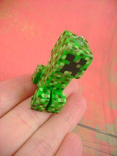 Creeper Minecraft charm, $29.00