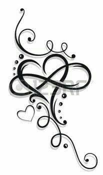 Αποτέλεσμα εικόνας για heart and little hearts tattoo behind ear