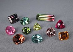 A suite of tourmalines from Pala International illustrates the tremendous variety within this gem family.
