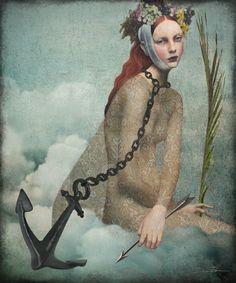 Daria Petrilli for Exit Voto- Santa Filomena- Surrealism Painting, Pop Surrealism, Daria Petrilli, Magic Realism, Illustrations And Posters, Whimsical Art, Surreal Art, Art Plastique, Belle Photo