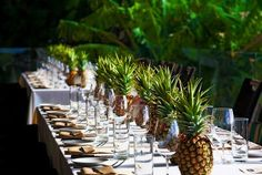 Pineapple centerpieces, real or decorative