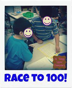 All Things Upper Elementary: Race to 100! {Teaching Crisis Averted}
