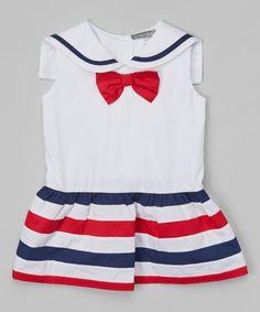 Loving this Red & Navy Sailor Dress - Infant, Toddler & Girls on #zulily! #zulilyfinds