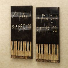 decoration, Beautiful Tone On Simple Black Board And Old White Tuts Closed Black Tuts On Calm Color Wall Fit To Cute Piano Key Art - Stunning Piano Key Art Beautifying Wall Decorations