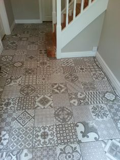 #Porcelain encaustic style patterned tiles