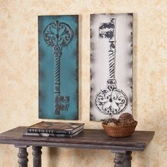 Key Decorative Wall Panel 2Pc Set