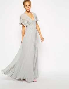 fluted-sleeves-long-grey-maxi-dresses-for-women-1-1