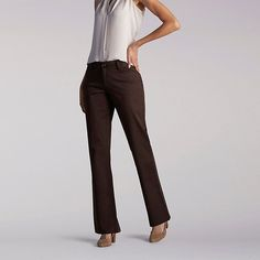 Lee Women's Curvy Fit Maxwell Trouser - Modern Series Pants (Size 4 x M)
