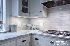 "Updated kitchen, beautiful in ""all white"" ☆ Southern Maine Kitchen: Joseph Corrado Photographer, Jeanne Rapone Kitchen Design"