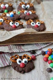Rentier-Cookies | Rezept | Weihnachten | Backen | Kekse | Plätzchen Marzipan, Bon Appetit, Gingerbread Cookies, Tiramisu, Reindeer, Ice Cream, Xmas, Mango, Snacks