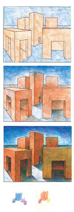 Perspective, value, color, surrealism