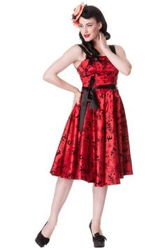 Plus Size Bloody Marry Red Rockabilly Gothic Velvet Tattoo Art Flocked Party Dress, http://www.amazon.com/dp/B00A55J9HK/ref=cm_sw_r_pi_awdm_eI4otb147NC4P