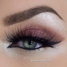 Mauve eyeshadow.