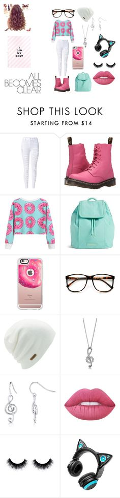 """Idk #4"" by charlese-b ❤ liked on Polyvore featuring WithChic, Dr. Martens, Vera Bradley, Casetify, ZeroUV, Coal, BERRICLE, Lime Crime, Brookstone and idk"