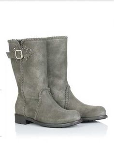 Jimmy Choo grey suede boots