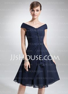 They just keep getting better. Mother of the Bride Dresses - $129.99 - A-Line/Princess Off-the-Shoulder Knee-Length Chiffon Mother of the Bride Dress With Ruffle Beading (008006013) http://jjshouse.com/A-Line-Princess-Off-The-Shoulder-Knee-Length-Chiffon-Mother-Of-The-Bride-Dress-With-Ruffle-Beading-008006013-g6013 Bride Dresses, Bridal Dresses 2015, Mother Of Groom Dresses, Mothers Dresses, Wedding Party Dresses, Mob Dresses, Bridesmaid Dresses, Mother Of The Bride, Formal Dresses