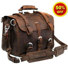 #Selvaggio Handmade Rugged #Leather #Briefcase & Backpack Heavy Duty #Serbags