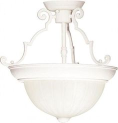 "Nuvo 76-435 - 13"" Close-To-Ceiling Semi Flush Ceiling Lights"