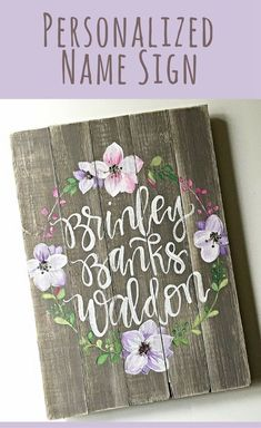 Nursery Decor Name Sign Home Decor Shabby Chic Hand Farmhouse Nursery Decor, Rustic Nursery, Nursery Wall Decor, Baby Decor, Girl Nursery, Nursery Ideas, Room Ideas, Bear Nursery, Nursery Signs