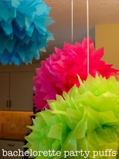 Party Puffs - posted on www.luckygirlfinds.com - great blog - also has where to buy these and a DIY  what color!