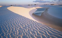 Not a beach in the traditional sense, Lençóis Maranhenses consists of a series of lagoons surrounded by towering sand dunes.