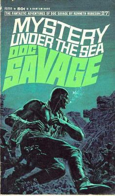 Doc Savage Books - Mystery.... Under the Sea.....Vintage