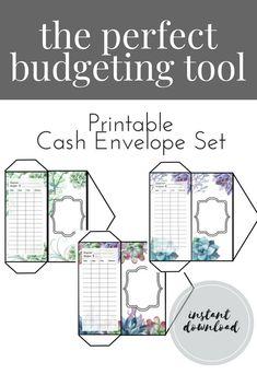 FILLABLE PRINTABLE Cash Envelopes DIY Money Envelopes Dave Ramsey - Budget envelopes template
