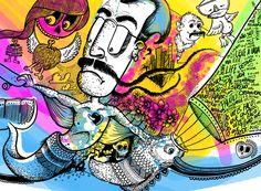Ilustração de parede em andamento #art #illustration #creative